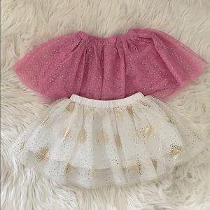 18 months 2 glittery skirts